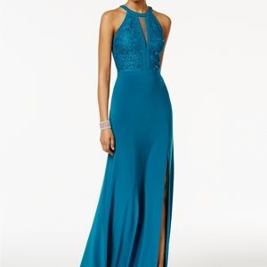 Nightway Lace Halter Gown Oasis Size 8